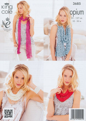 Scarf, Snoods, Poncho and Wrap in King Cole Opium (3685)