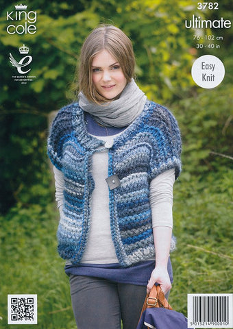 Ladies Cardigan and Waistcoat in King Cole Ultimate (3782)