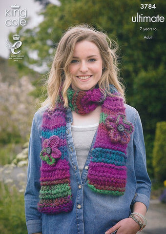Scarves, Snood and Collar In King Cole Ultimate (3784)