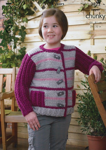 Jacket and Gilet in King Cole Super Chunky (3822)