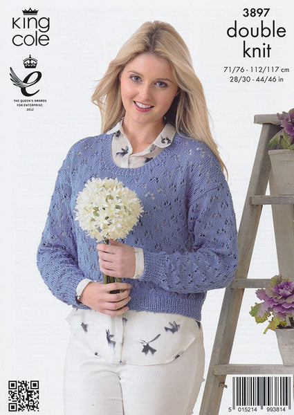 Cardigan and Sweater in King Cole Giza Cotton DK (3897)