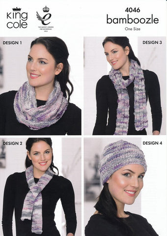 Shrug, Hat, Scarf, Snood and Neck Warmer in King Cole Bamboozle (4046)