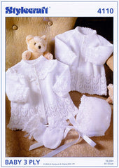 Jackets, Bonnet and Mitts in Stylecraft Wondersoft 3 Ply (4110)