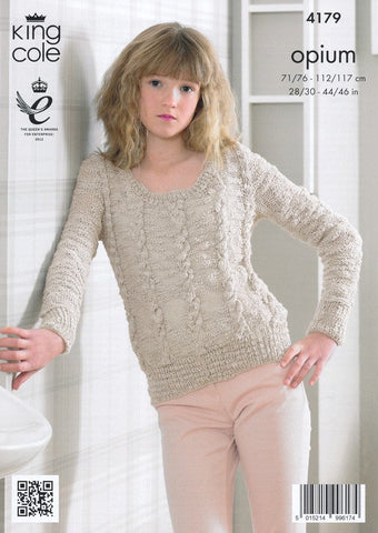 Slipover and Sweater in King Cole Opium (4179)