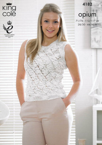 Sweater and Top in King Cole Opium (4182)