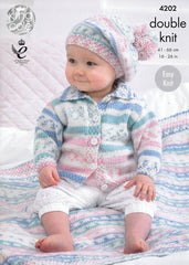 Babies' Cardigan, Blanket and Beret in King Cole Cherish DK (4202)