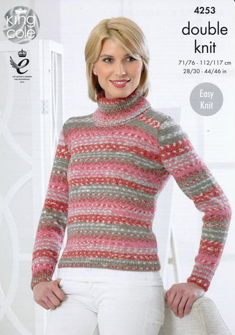 Sweater and Cardigan in King Cole Drifter DK (4253)