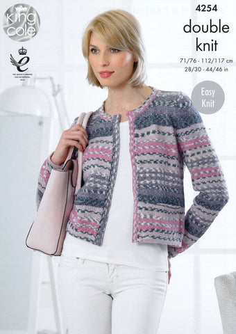 Sweater and Cardigan in King Cole Drifter DK (4254)