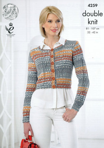Waistcoat and Cardigan in King Cole Drifter DK (4259)
