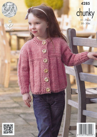 Sweater and Cardigan in King Cole Magnum Chunky (4285)