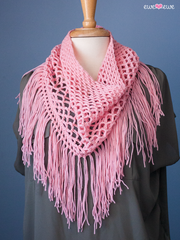 Bohemian Grove Crocheted Cowl in Ewe So Sporty Merino (428)