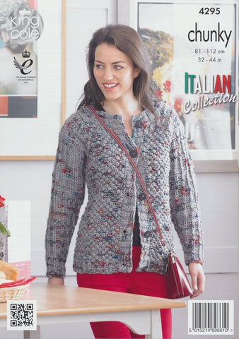 Sweater and Cardigan in King Cole Florence Chunky (4295)