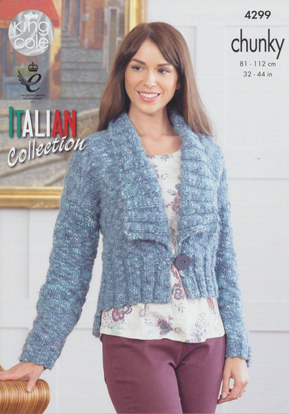 Top and Jacket in King Cole Verona Chunky (4299)