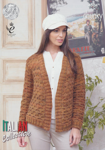 Jacket and Sweater in King Cole Venice Chunky (4304)
