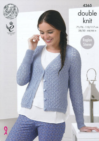 Cardigan and Sweater in King Cole Baby Alpaca DK (4365)