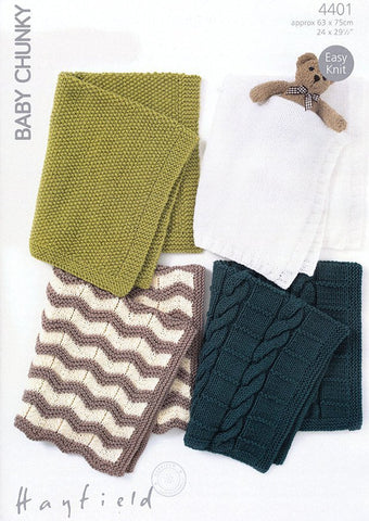 Blankets in Hayfield Baby Chunky (4401)