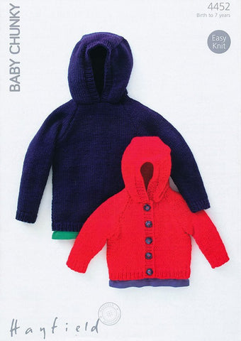 Sweater & Jacket In Hayfield Baby Chunky (4452)