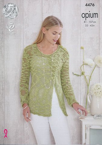 Sweaters in King Cole Opium (4476)