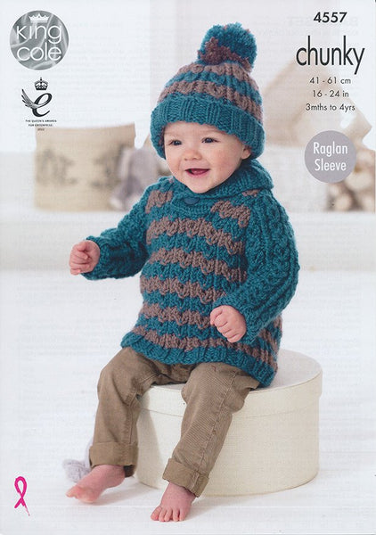 Baby Set in King Cole Comfort Chunky (4557)