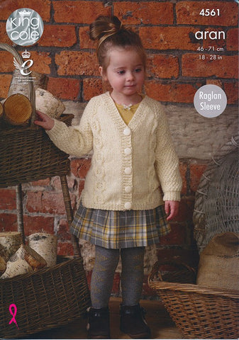 Raglan Tunic and Cardigan in King Cole Fashion Aran (4561)