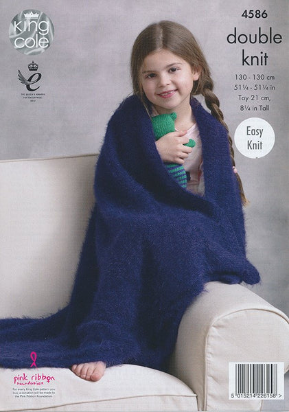 Blankets and Teddy in King Cole Embrace DK (4586)