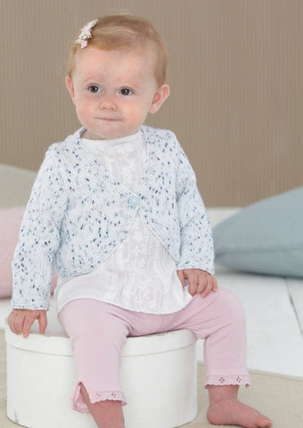 Babies and Girls Pinafore and Cardigans in Sirdar Snuggly Spots (4602)