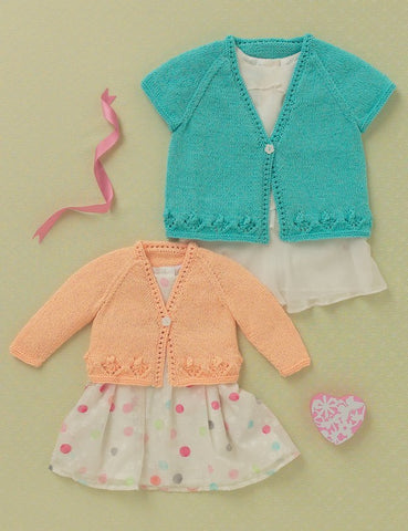 Babies and Girls Cardigans in Hayfield Baby Sparkle (4612)