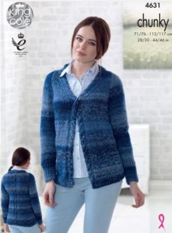 Cardigans in King Cole Cotswold Chunky (4631)