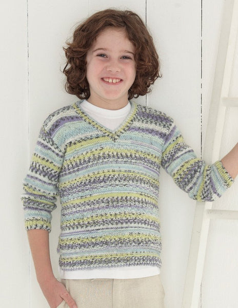 Babies and Boys Sweaters in Sirdar Snuggly Baby Crofter DK (4636)