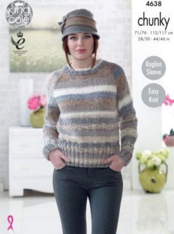 Sweaters in King Cole Cotswold Chunky (4638)