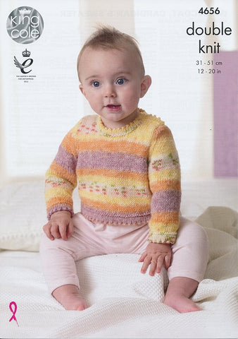 Waistcoat, Cardigan and Sweater in King Cole Splash DK (4656)