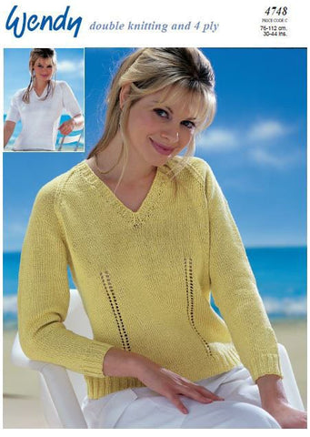 Sweaters in Wendy Supreme Luxury Cotton DK and 4 Ply (4748) Digital Version