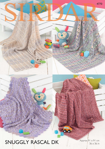 Blankets in Sirdar Snuggly Rascal DK (4770) - Digital Version