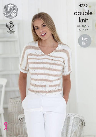 Ladies Tops in King Cole Cottonsoft Crush DK (4775)