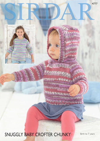 Sweaters in Sirdar Snuggly Baby Crofter Chunky (4777)