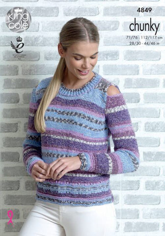 Sweater and Cardigan in King Cole Drifter Chunky (4849)