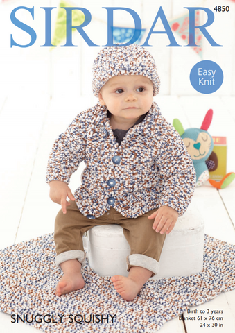 Jacket, Hat & Blanket in Sirdar Snuggly Squishy (4850)