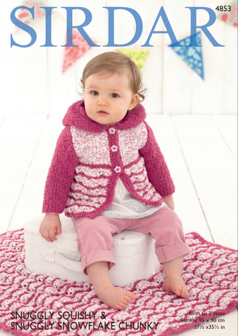 Girl's Hooded Coat and Blanket in Sirdar Snuggly Squishy (4853)
