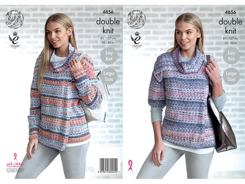 Ladies' Cardigans in King Cole Drifter DK