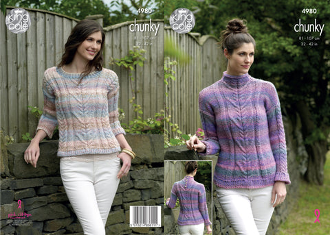 Sweaters Knitted in King Cole Chunky (4980)