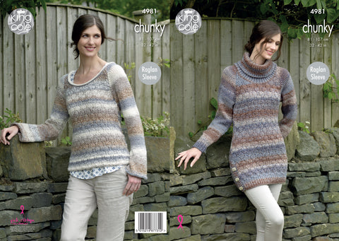 Tunic and Sweater Knitted in King Cole Chunky (4981)
