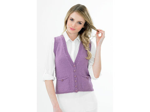 Waistcoat with Lacey Back by Jenny Watson in Deramores Studio DK (5040)