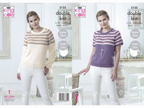 Sweaters in King Cole Cottonsoft DK (5125)
