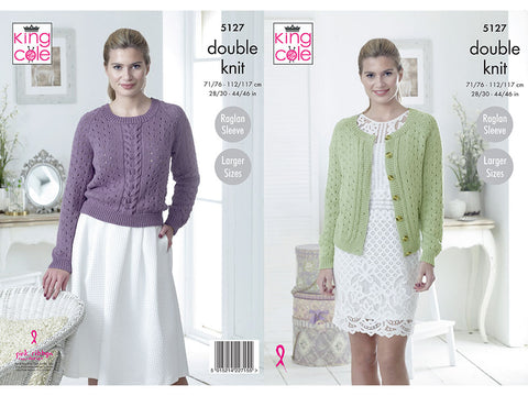 Sweater & Cardigan in King Cole Cottonsoft DK (5127)