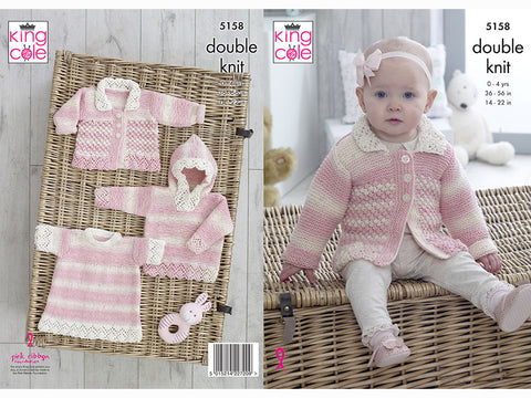 Sweater with Hood, Angel Top & Jacket in King Cole DK (5158)
