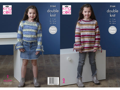 Sweater & Dress in King Cole Splash DK (5164K)