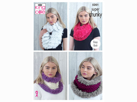 Cowls in King Cole Super Chunky (5201K)