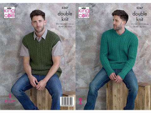 Sweater and Pullover in King Cole DK (5247K)