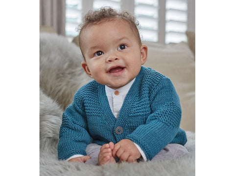 Baby Boys Cardigans in Sirdar Snuggly Baby Cashmere Merino DK (5250)