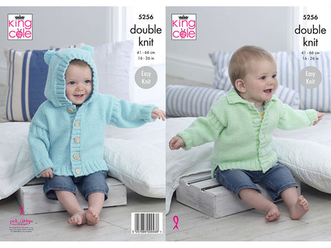 Jackets in King Cole Big Value Baby DK 50g (5256K)